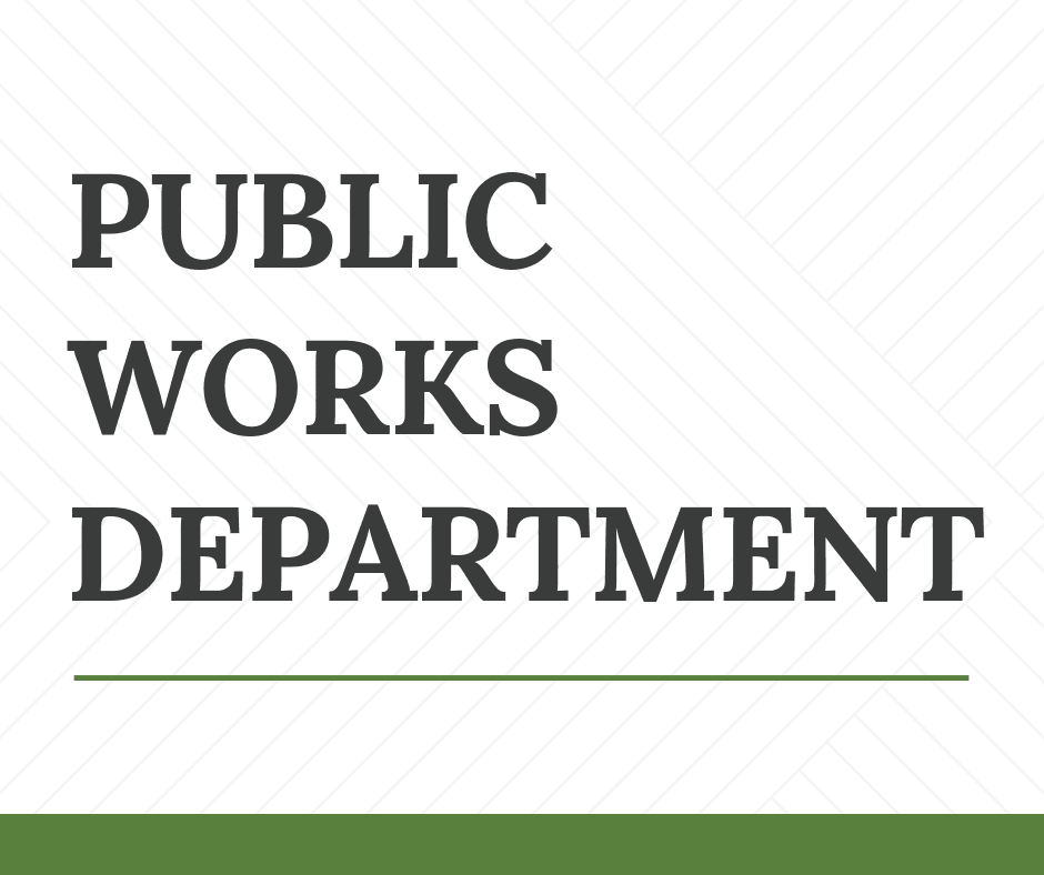 Public Works Department News Flash Cover