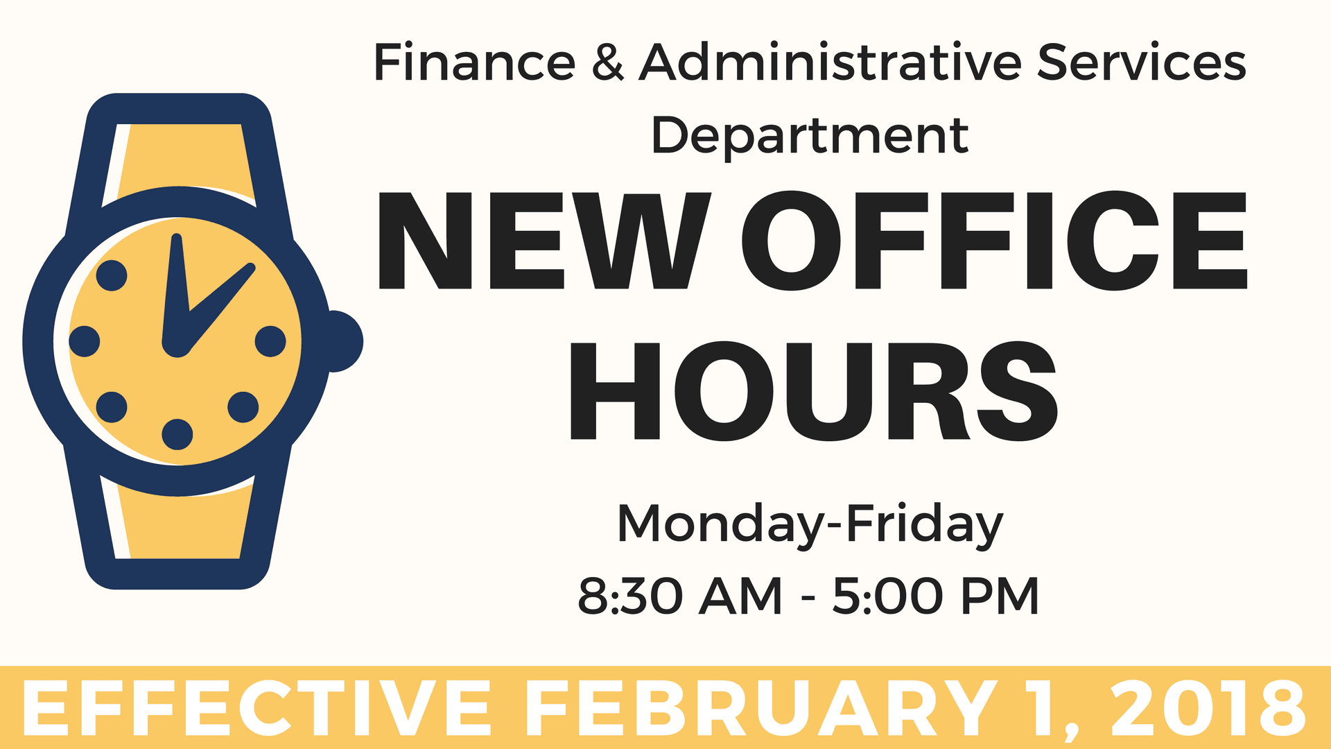 FIN ADM NEW OFFICE HOURS